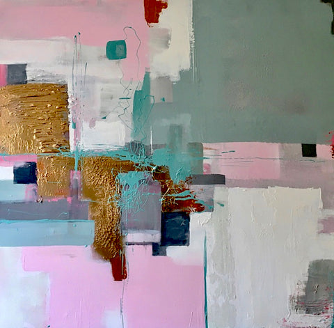 Latisha Reihill, Golden Rule, painting, 100 x 100 x 3 cm