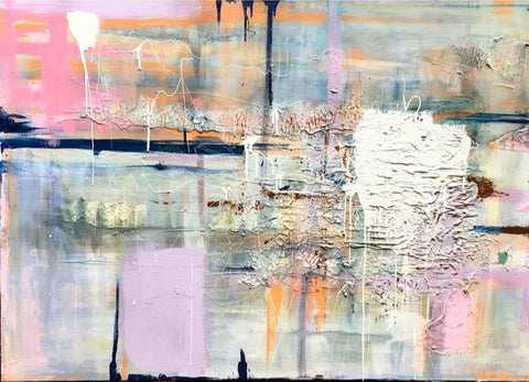 Latisha Reihill, Broken Waters, painting, 140 x 100 x 4 cm (151 x 111 x 5 framed)