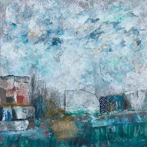 Katherine St.  Angelo, Defining the Elements 21, mixed media, 21 X 21 X 1 cm