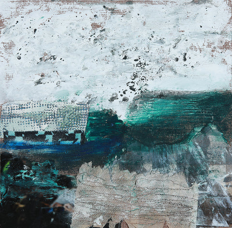 Katherine St. Angelo, Defining the Elements 22, mixed media, 21 X 21 X 1 cm