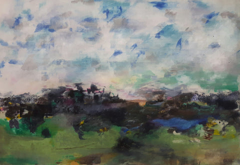 Katherine St. Angelo, Defining the Elements 10, painting, 43.5 x 63 cm (46.5 X 66 X 4 cm framed)