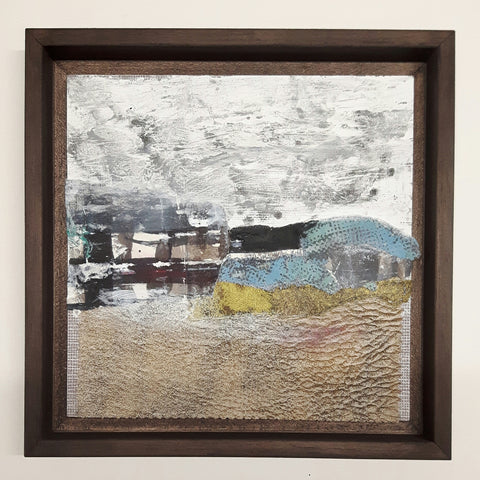 Katherine St.  Angelo, Defining the Elements 20, mixed media, 21 x 21 x 1 cm (24.5 x 24.5  x 3.5 cm framed)