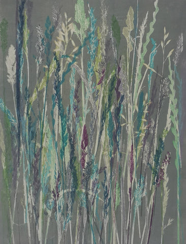 Anushiya Sundaralingam, Pulveli 2 (Meadow), work on paper, 28 x 38 cm (49 x 59 with mount)