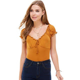 Solid Puff Sleeve Peasant to Bodysuit