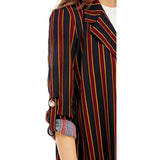 Stripe Long Blazer
