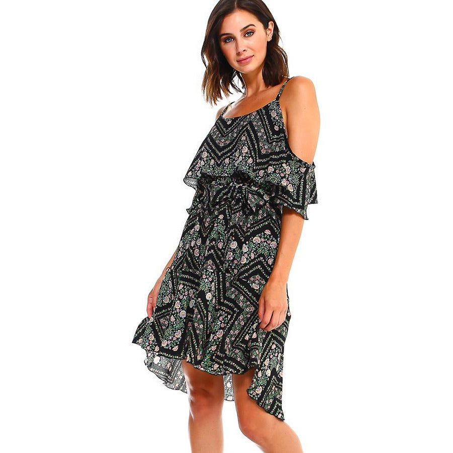 Blink Floral Print Handy Hem Waist Dress