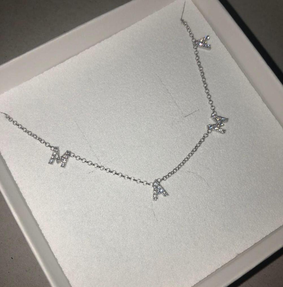 Jodie -Mama necklace in silver