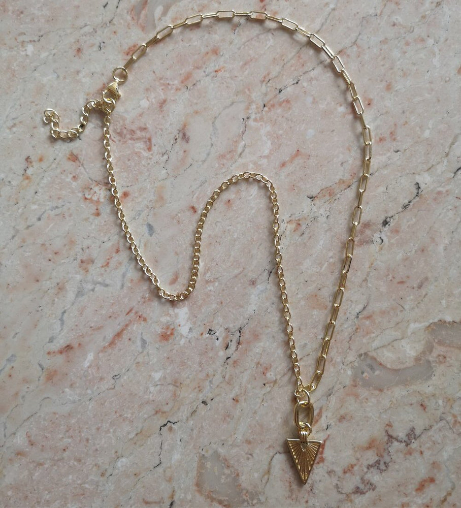 SALE - Gold Contrast link necklace