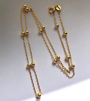 Preorder! Jodie -Gold Ball Chain
