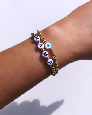 New! Blue heart bead bracelet