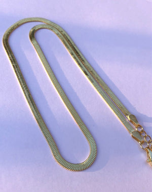 Jodie - Gold Herringbone chain