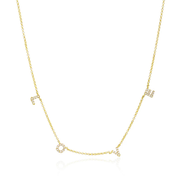 Jodie- Love Necklace Gold