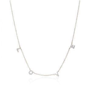 Jodie - Love Necklace In Silver