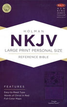 Load image into Gallery viewer, NKJV Large Print Personal Size Reference Bible, Purple LeatherTouch