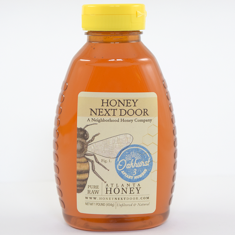 1 lb. Pure Raw Atlanta Honey