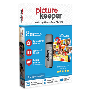 Picture Keeper for Computer (8GB) - USB Photo Stick for Mac/PC - Backup and Storage Drive