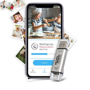 Picture Keeper Connect (64GB) Save up to 16,000 photos, videos and contacts from your iPhone, iPad or Android phone and tablet.