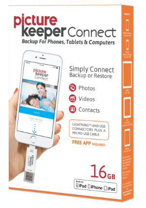 Picture Keeper Connect for iPhone / iPad / Android 16GB