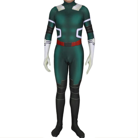 My Hero Academia Midoriya Izuku Deku Green Bodysuit Cosplay Costume