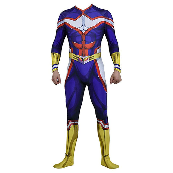 Boku No Hero My Hero Academia All Might Jumpsuit Cosplay Costume Halloween Bodysuit