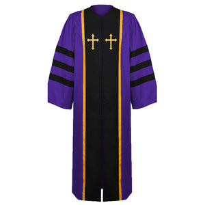 Men Halloween Clergy Robe Church Costume Long Sleeve Slim Clergy Cassocks Medieval Tradition Priest Robe