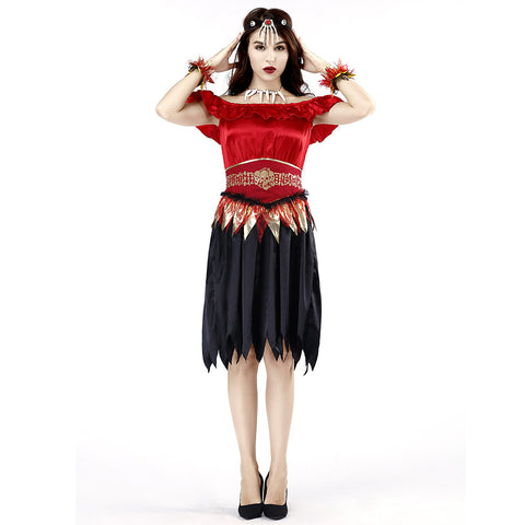 Women Halloween Skeleton Scary Vampire Costume Carnival Party Cosplay Fancy Dress