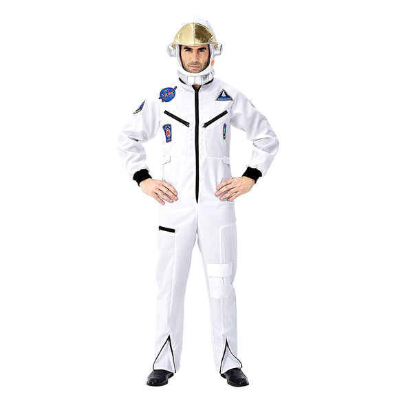 Men Astronaut Costume Spaceman Suit Halloween Adult Costumes Funny Cosplay Party Stage Performance
