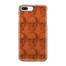 Load image into Gallery viewer, Orange Skeleton Halloween Strange Weird iPhone X