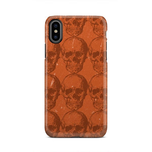 Orange Skeleton Halloween Strange Weird iPhone X