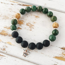 Load image into Gallery viewer, I Am Patient and Grounded Bracelet, African Jade,