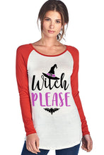 Load image into Gallery viewer, WITCH PLEASE W/ WITCH HAT RAGLAN LONG SLEEVE TOP