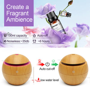 USB Aroma Essential Oil Diffuser Ultrasonic Cool