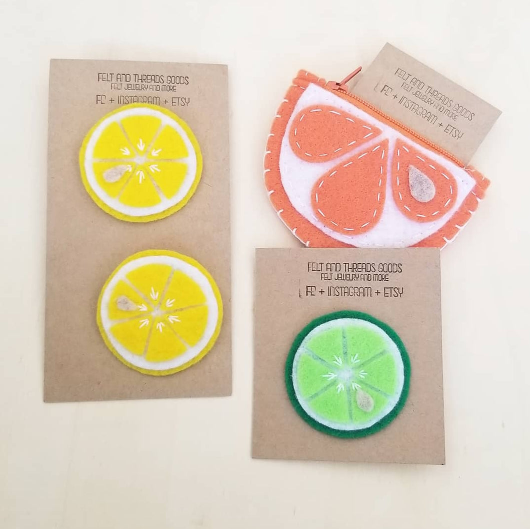 Felt and Threads Goods Citrus Collection