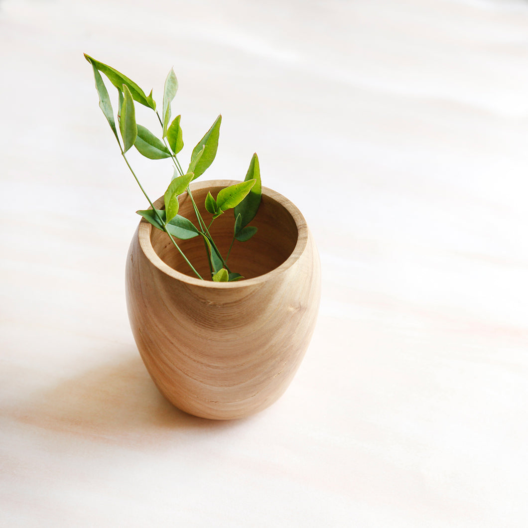 Ash Beam Vase | Hand-turned - Crater Made Home