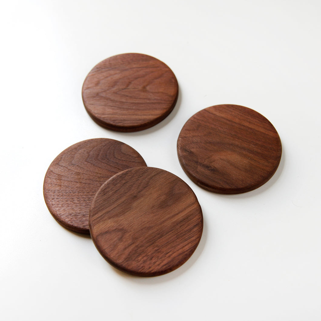 Minimalist Reclaimed Wood Coasters - Crater Made Home