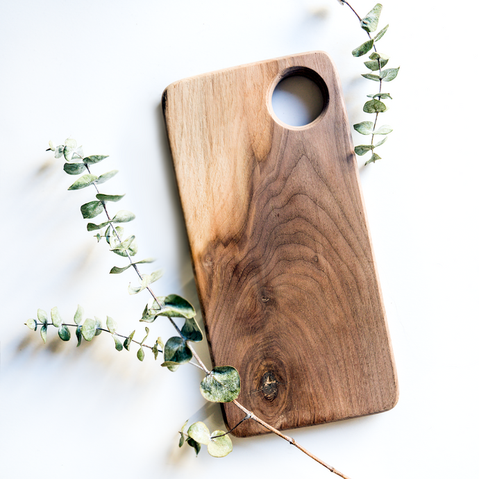 Helios Cheese Board | Walnut Beam - Crater Made Home