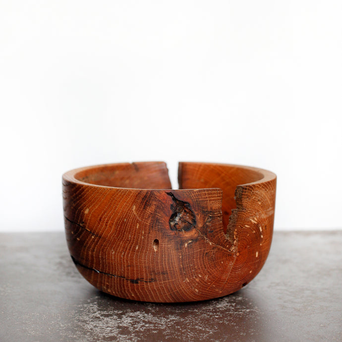 Red Oak Beam Bowl | Hand-turned - Crater Made Home