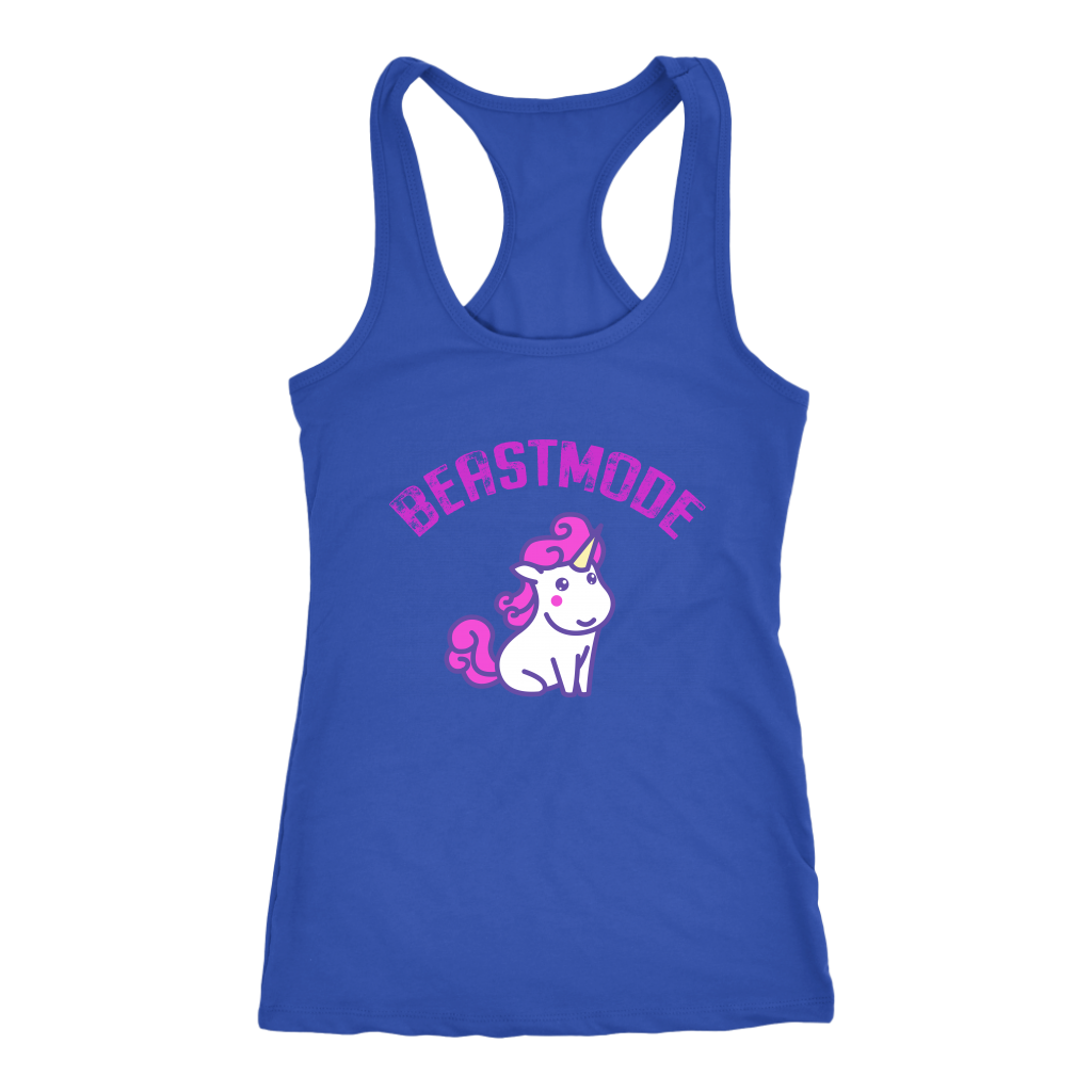 New ByRamses BEAST MODE Unicorn funny shirts and tank-tops for women