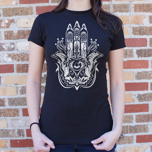 Hamsa Hand Symbol T-Shirt (Ladies)