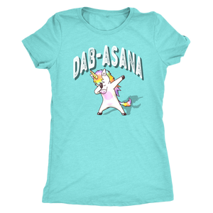 Dab-asana Unicorn Dab yoga shirts and tank-tops