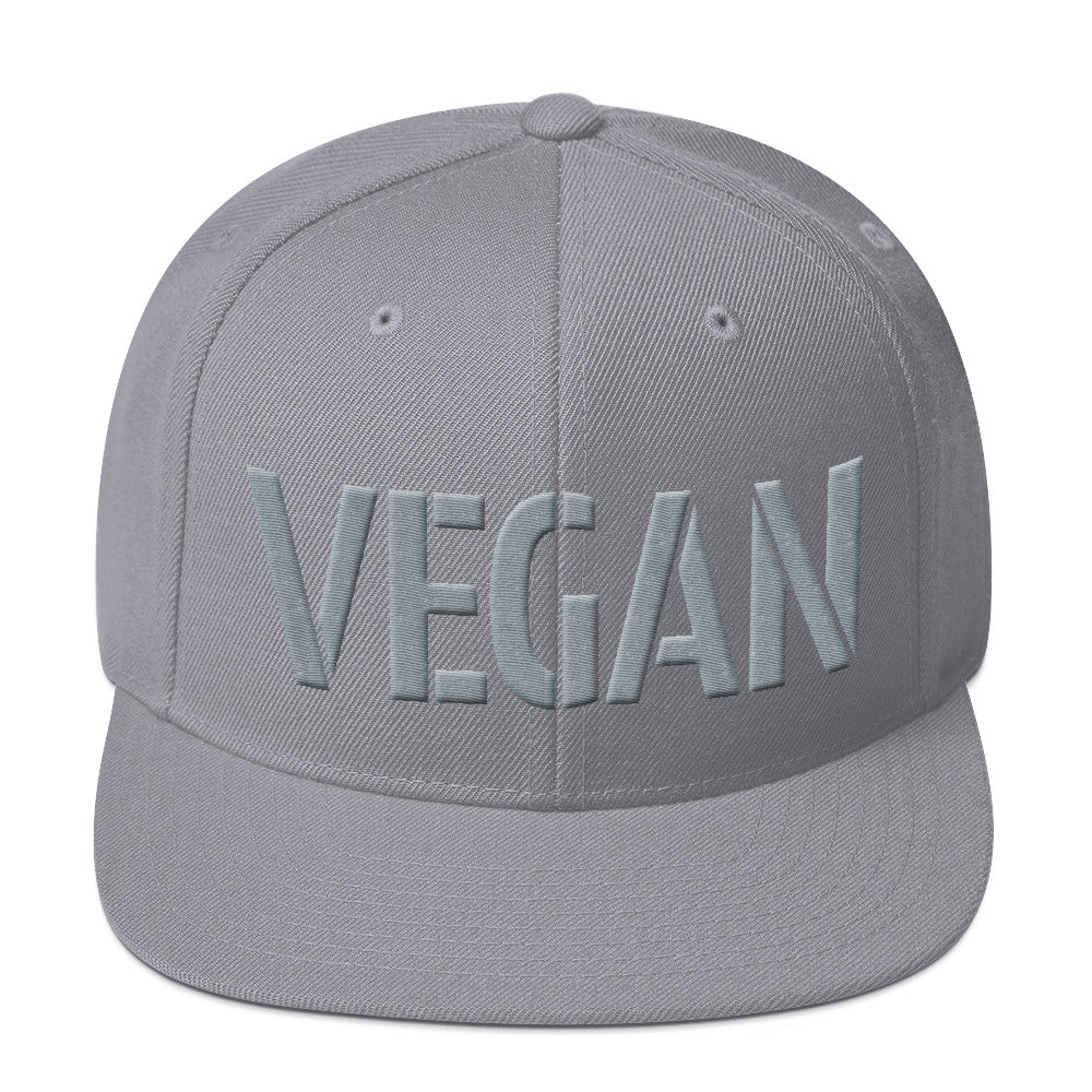 Vegan Spelled in 3D puff embroidered Snapback Hat