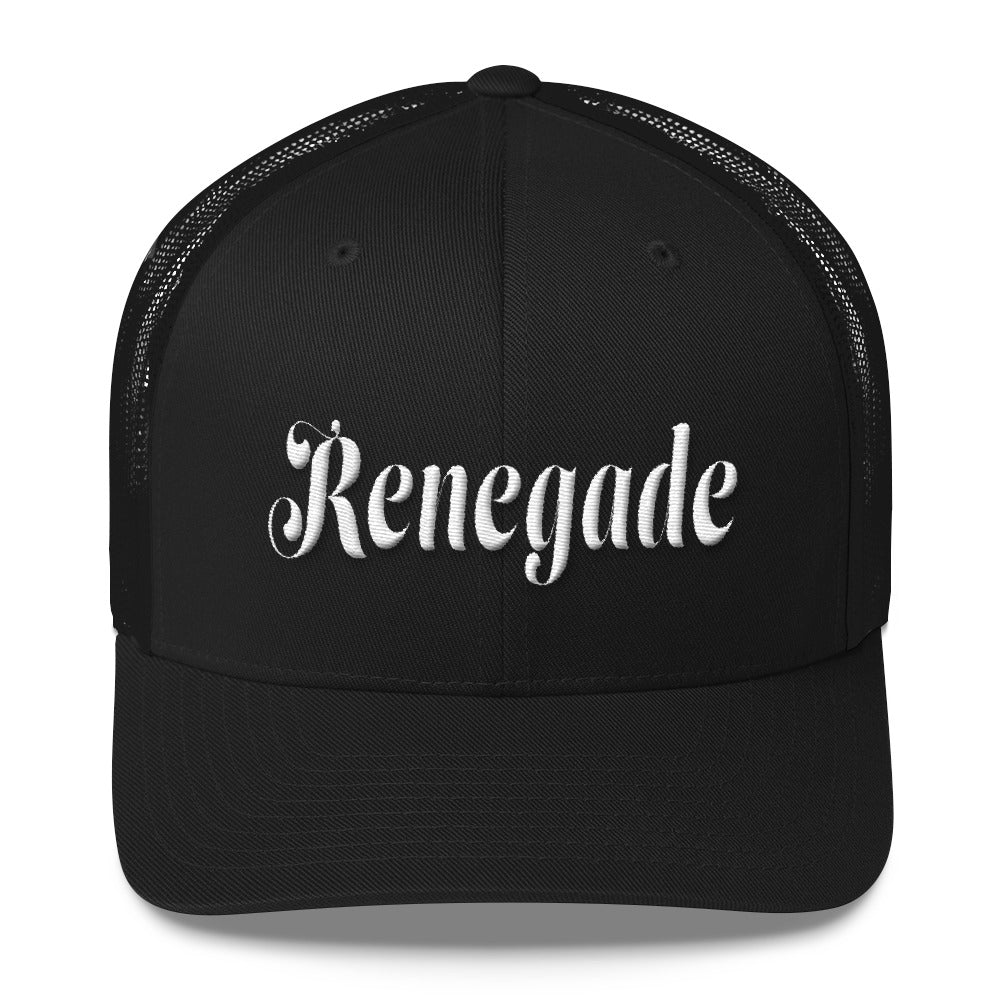 Renegade cursive 3D PUFF embroidered baseball hat Trucker Cap