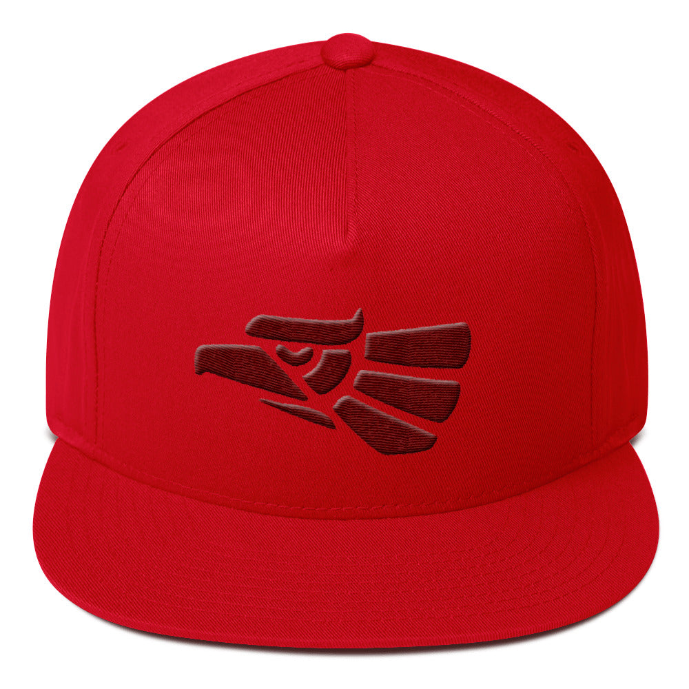Hecho En Mexico Eagle 3D Embroidered Snapback Cap Hat Flat Bill Cap