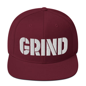 New GRIND in 3D Puff embroidery design baseball cap Snapback Hat