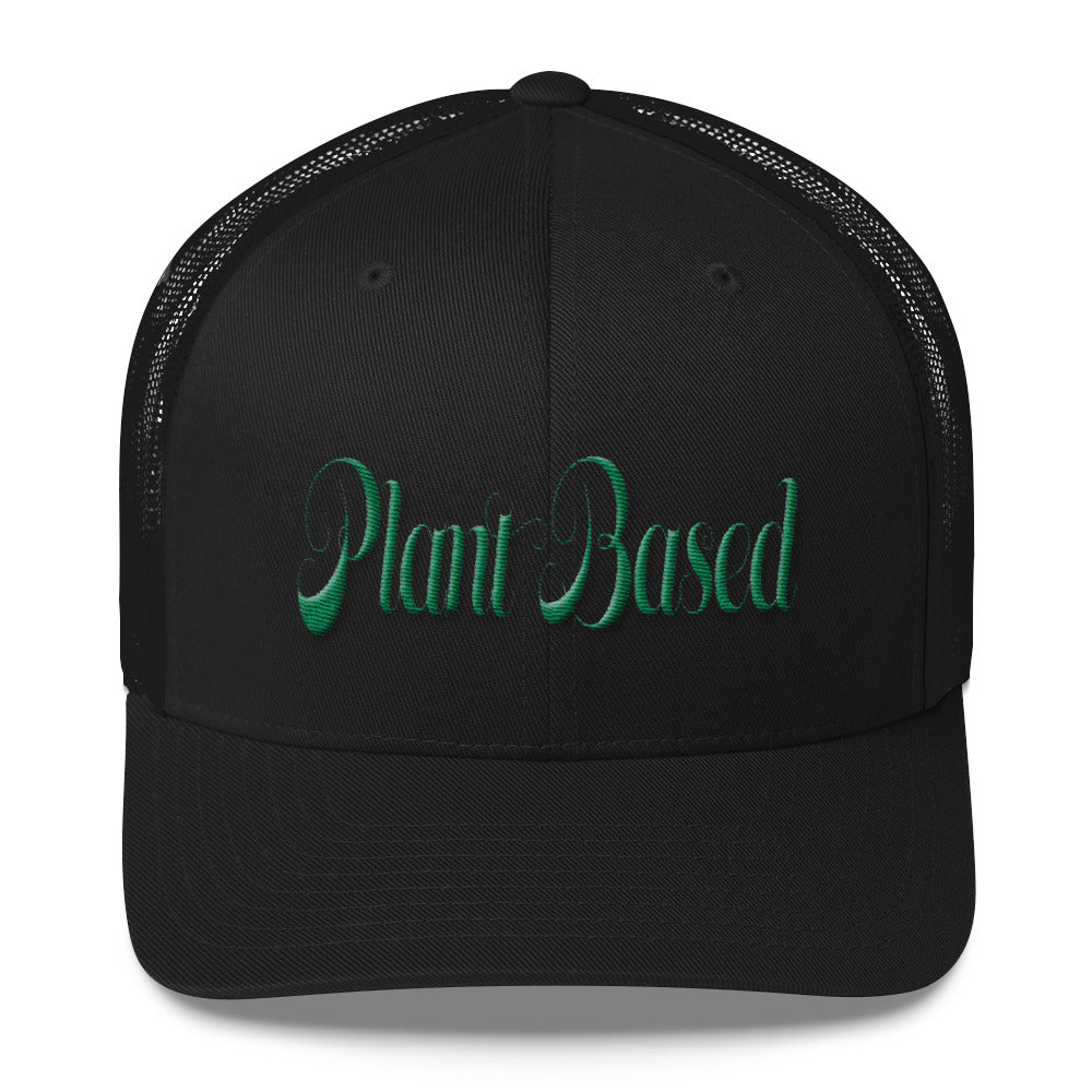 Plant Based embroidered 3D PUFF baseball hat Trucker Cap