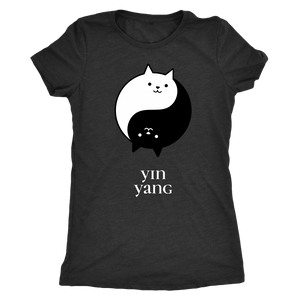 Cat Yoga Fitness t-shirt and tank-top Yin Yang Cats