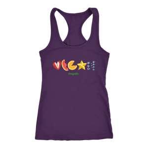 VEGAN spelled in Fruit shirts and tank-tops #veganlife #vegan4life