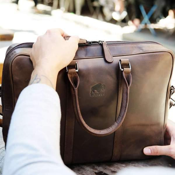 Why Every College Student Needs a Leather Bag - Burkley Case