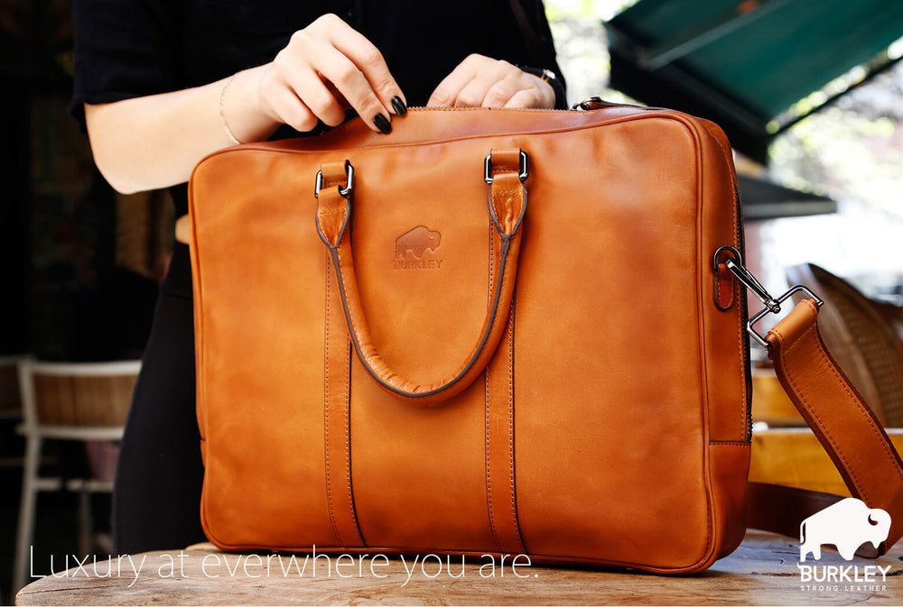 Burkley Case Dakota Leather Briefcase