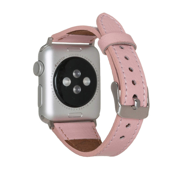 Slim Leather Band for Apple Watch 38mm / 40 mm in Nude Pink
